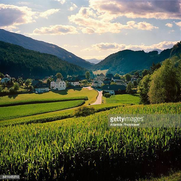 castelbadia or sonnenburg village - alto adige bildbanksfoton och bilder