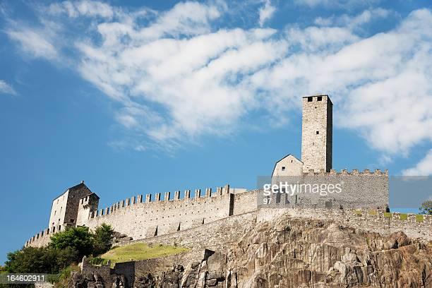 Castelgrande, eines Bellinzonas Schlösser, Unesco World Heritage in der Schweiz.