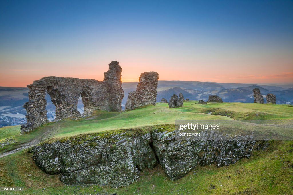 Castell Dinas Bran, Crow Castle,  Llangollen : Stock Photo