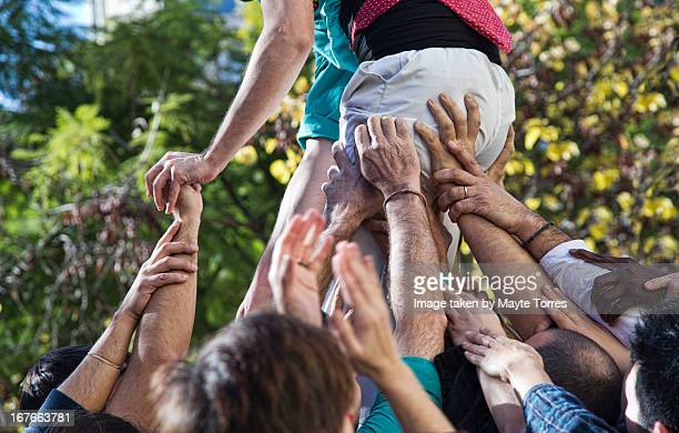 Castellers hands