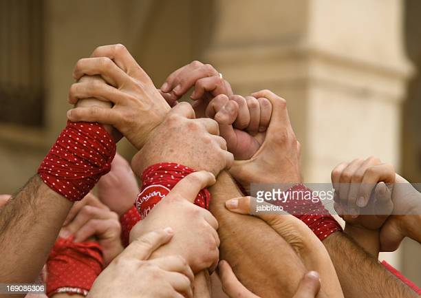 castellers - castellers stock photos and pictures