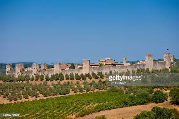 Castello Di Monteriggioni, Tuscany, Italy