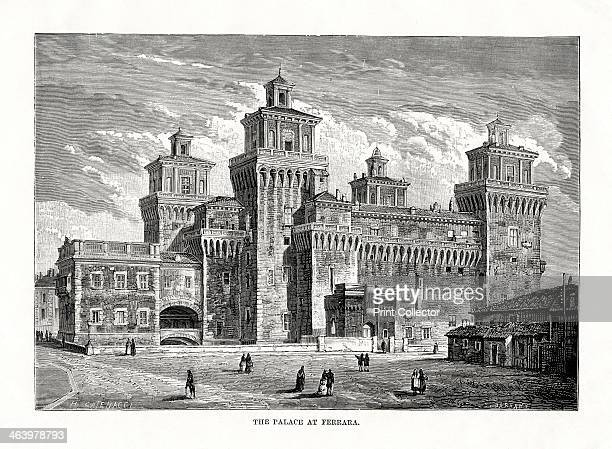Castello Estense Ferrara Italy 1879 A mediaeval fortress which was converted into the ducal residence of the Este family during the Renaissance