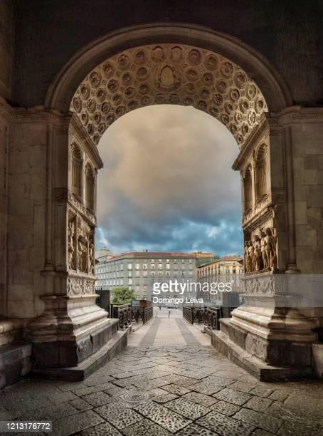 castello nuovo naples, campania, italy - fornix stock pictures, royalty-free photos & images