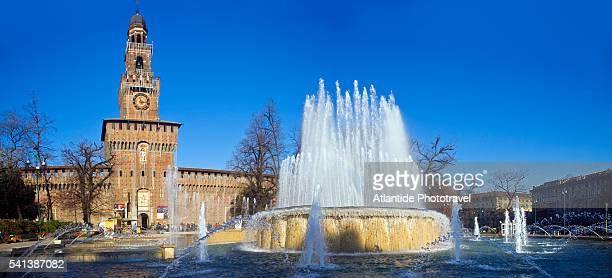 Castello Sforzesco and Fountain