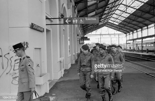 Castelnaudary, France, novembre 1990 --- Le 4ème Régiment étranger , basé à Castelnaudary, est le régiment de formation de la Légion étrangère, où...