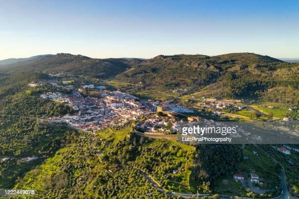 castelo de vide drone aerial view