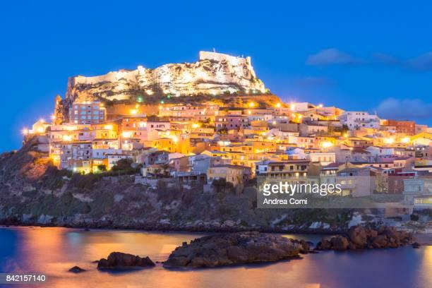 Castelsardo, Sassari, Sardinia. View of Castelsardo at twilight