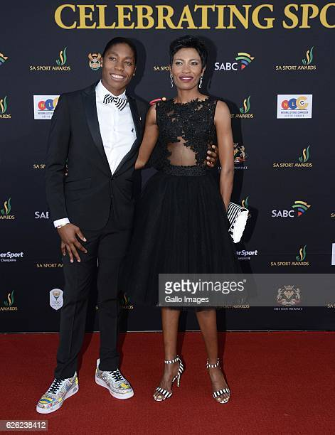 Caster Semenya and her partner Violet Raseboya and during the SA Sports Awards on November 27 2016 in Bloemfontein South Africa The 2016 SA Sport...