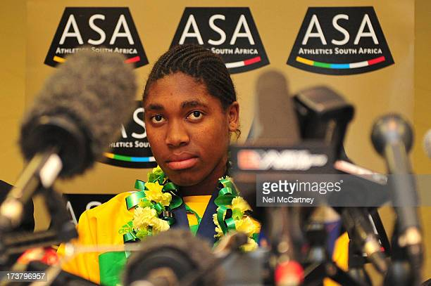 Caster Semenya during a press conference for Athletics South Africa at OR Tambo Southern Sun hotel in Johannesburg South Africa, 25 August 2009.