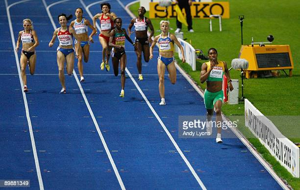Caster Semenya of South Africa on her way to win the gold medal in the women's 800 Metres Final during day five of the 12th IAAF World Athletics...