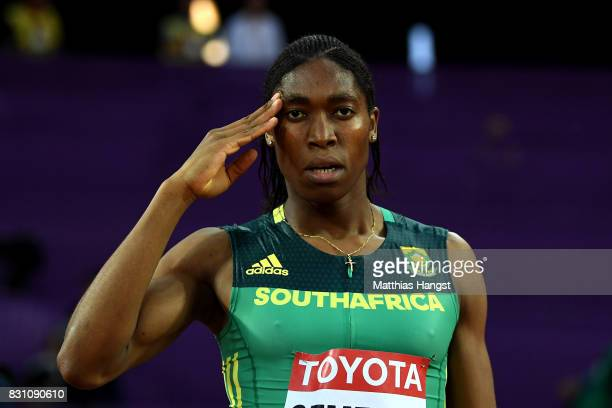 Caster Semenya of South Africa prior to the Womens 800 metres during day ten of the 16th IAAF World Athletics Championships London 2017 at The London...