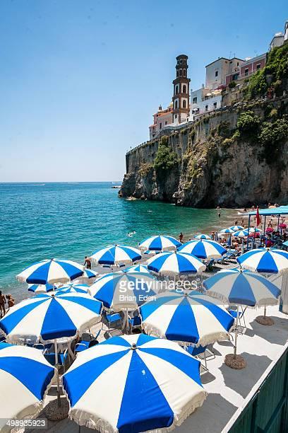 Castiglione Beach and Atrani on the Amalfi Coast