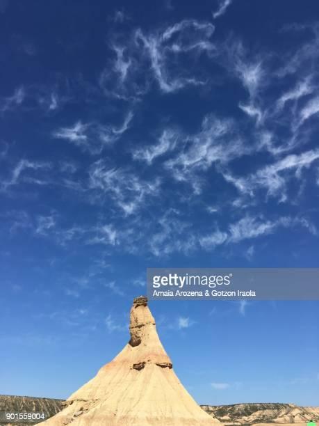 castildeterra natural monument in bardenas reales, navarre - pinnacle peak bildbanksfoton och bilder