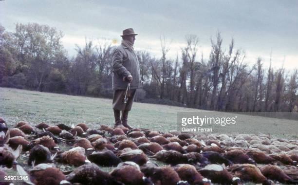 Castilla Spain Franco hunting partridges