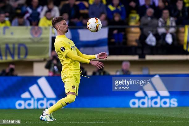 19 S Castillejo del Villarreal CF during UEFA Europa League quarterfinals first leg match between Villarreal CF v Sparta Prague at El Madrigal...