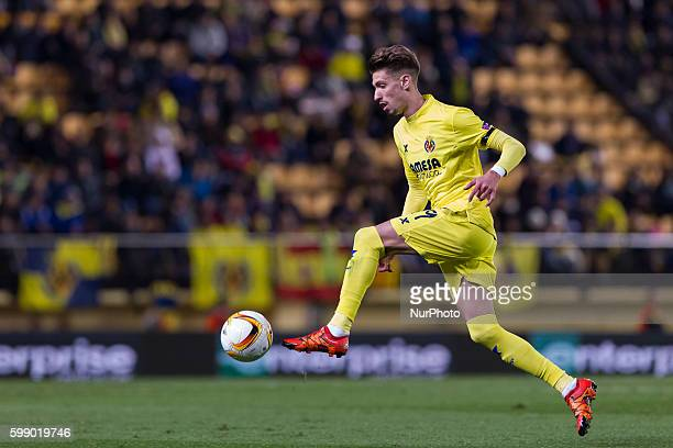 S Castillejo del Villarreal CF during UEFA Europa League Round of 16 first legs match between Villarreal CF and Bayer 04 Leverkusen at El Madrigal...