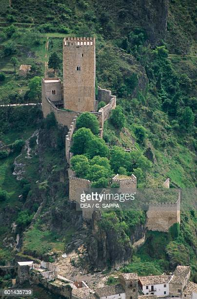 Castillo de la Yedra view from above Cazorla Andalusia Spain 13th century