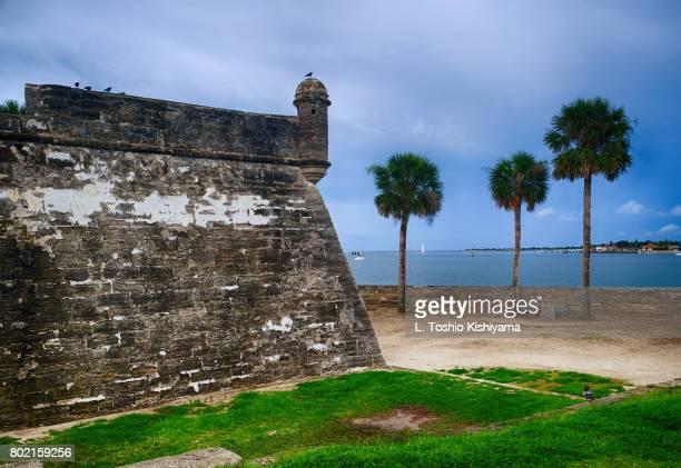 castillo de san marcos in st. augustine, florida - castillo de san marcos stock photos and pictures