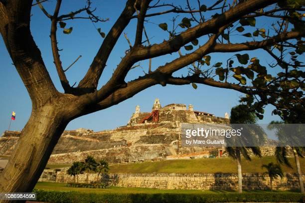 castillo san felipe de barajas, cartagena, colombia - unesco stock-fotos und bilder