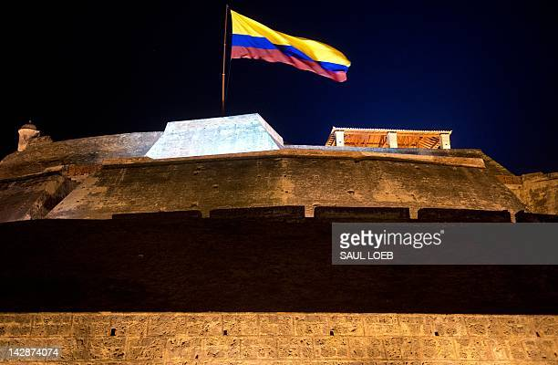 Castillo San Felipe de Barajas the largest colonial fort in Colombia during a Summit of the Americas leaders dinner in Cartagena Colombia April 13...