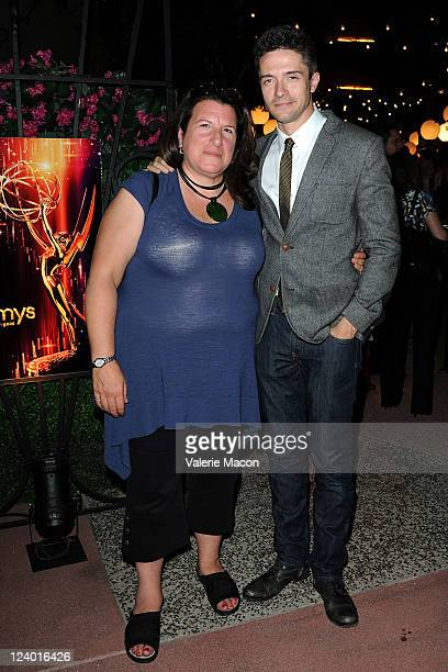 Casting director Alexa Fogel and actor Topher Grace attends The Academy Of Television Arts Sciences' Casting Directors Peer Group Celebrates The 63rd...