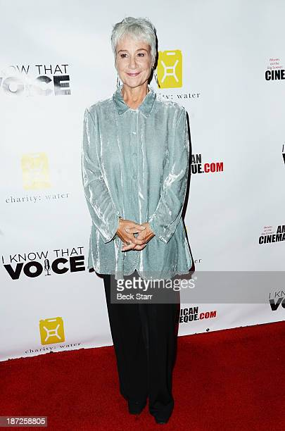 Casting director Andrea Romano arrives at I Know That Voice Los Angeles premiere at American Cinematheque's Egyptian Theatre on November 6 2013 in...