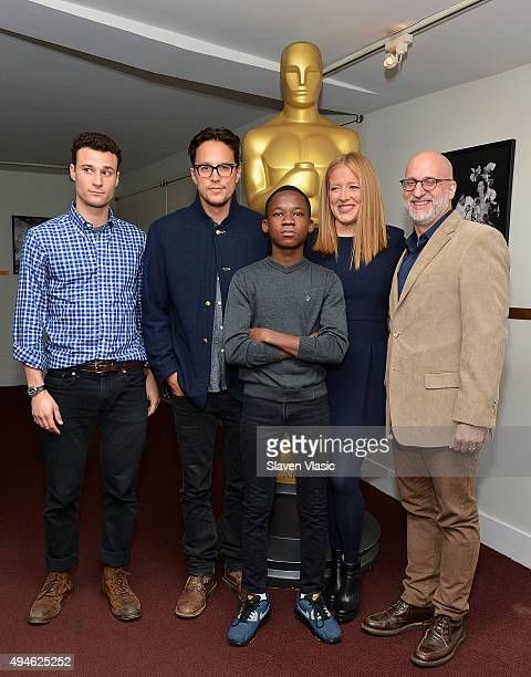 Casting director Harrison Nesbit producer/writer/director Cary Joji Fukunaga actor Abraham Attah producer Daniela Taplin Lundberg and critic Joe...