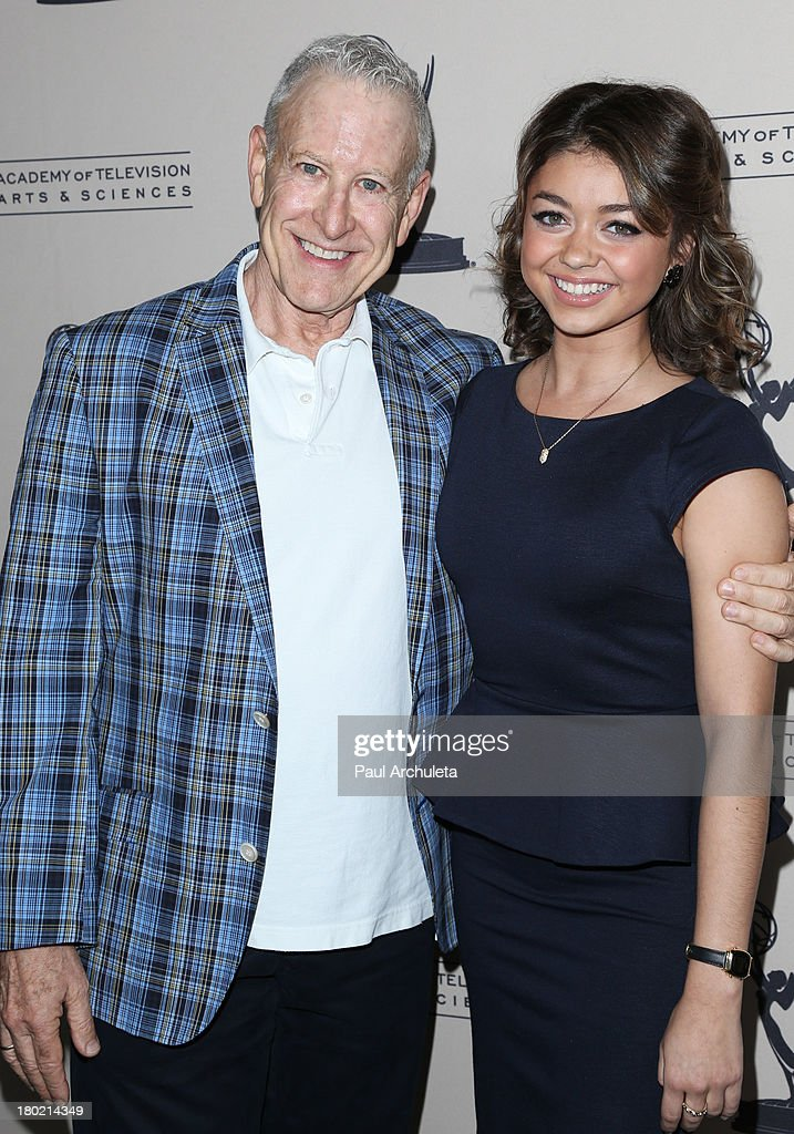 Casting Director Jeff Greenberg (L) And Actress Sarah Hyland (R) Attend The