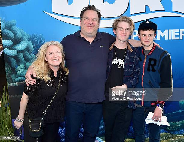 Casting director Marla Garlin actor/comedian Jeff Garlin Duke Garlin and Duke Keaton attend The World Premiere of DisneyPixar's FINDING DORY on...