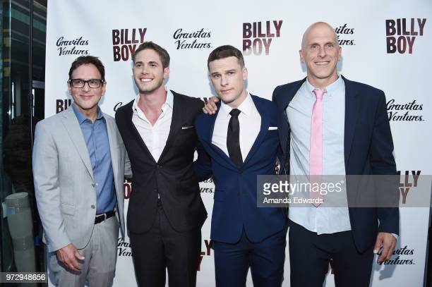 Casting director Robert J Ulrich actors Blake Jenner and Grant Harvey and director Bradley Buecker arrive at the Los Angeles premiere of 'Billy Boy'...