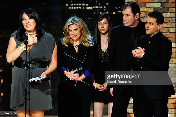 Casting directors Rachel Tenner Ellen Chenoweth actors Jessica McManus Michael Stuhlbarg and Richard Kind accept the Robert Altman award for 'A...