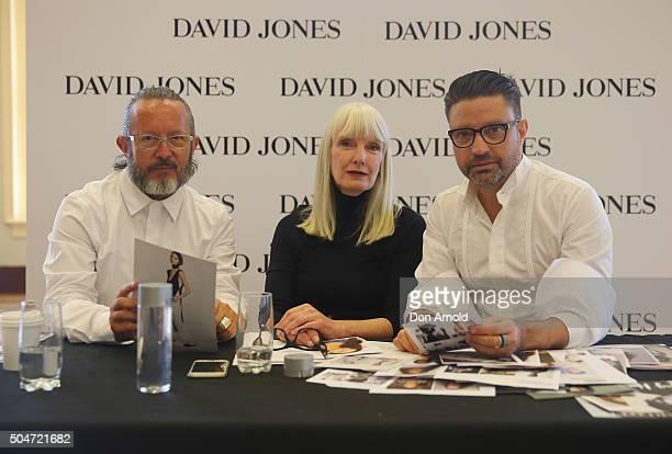 Casting judges Kelvin HarriesDonna Player and Aurelio Costarella pose during the David Jones AW16 Fashion Launch Model Casting at David Jones...