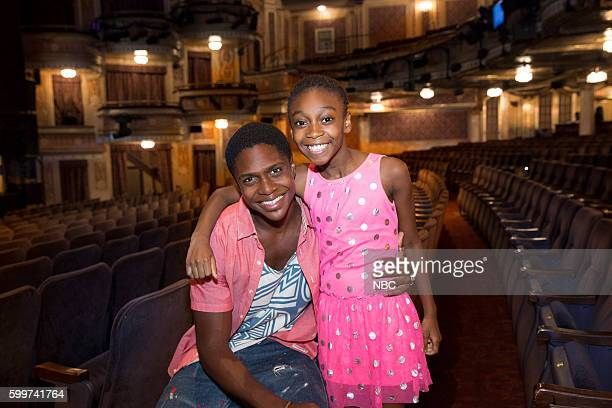 "Casting reveal for Seaweed and Little Inez in New York City"" -- Pictured: Ephraim Sykes, ""Seaweed"", Shahadi Wright Joseph, ""Little Inez"" --"