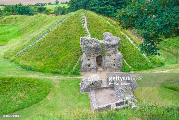castle acre castle - ancient history stock pictures, royalty-free photos & images