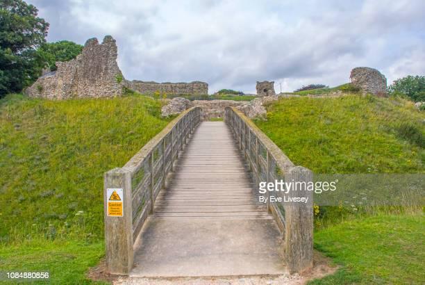 castle acre castle - chert stock photos and pictures