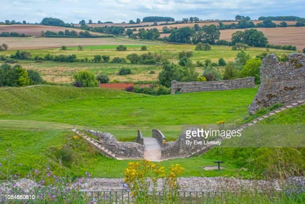castle acre castle remains - chert stock photos and pictures