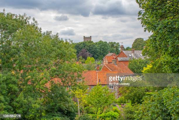 castle acre village - chert stock photos and pictures