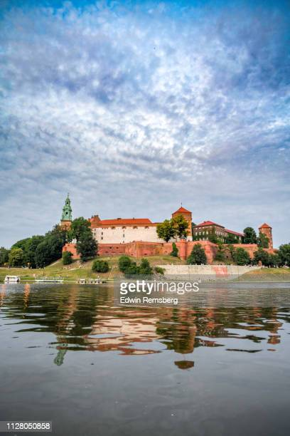 castle and clouds - wawel cathedral stock pictures, royalty-free photos & images
