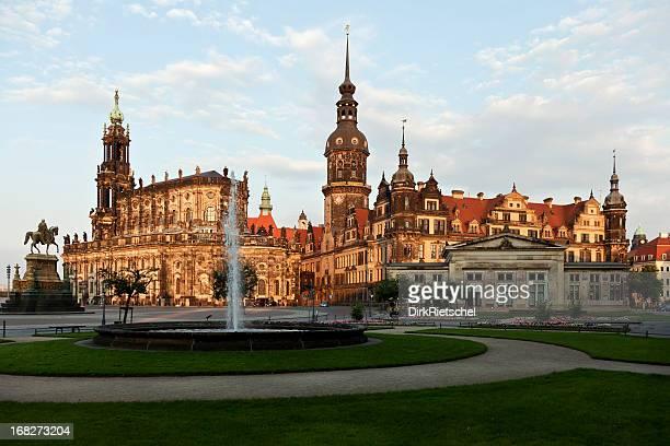 Castle und Hofkirche in Dresden.