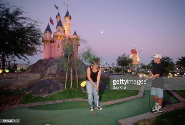 Castle at a Miniature Golf Course
