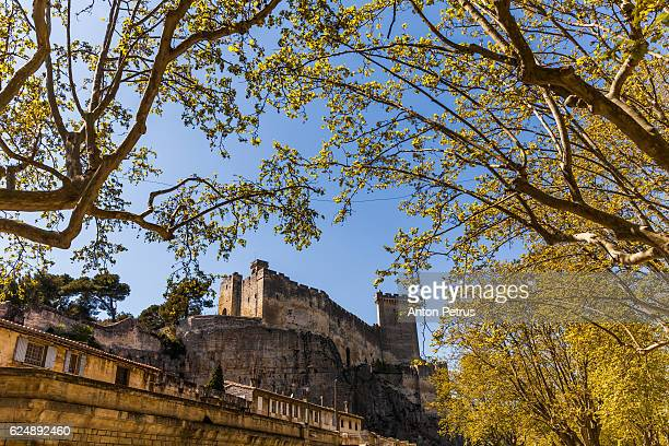 castle, beaucaire. gard, bouches-du-rhone, france - anton petrus stock pictures, royalty-free photos & images
