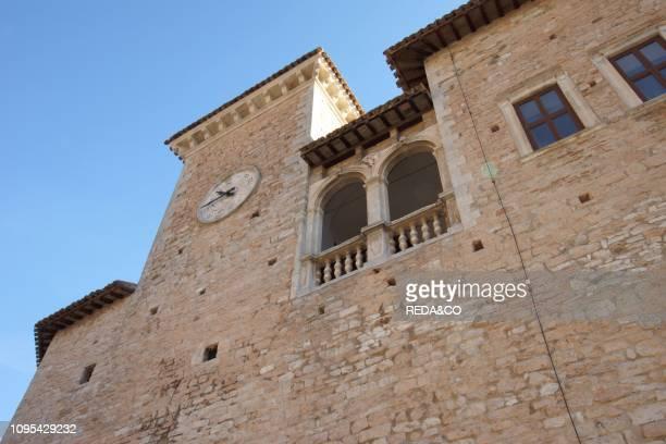 Castle Brancaleoni. Piobbico. Marche. Italy. Europe.
