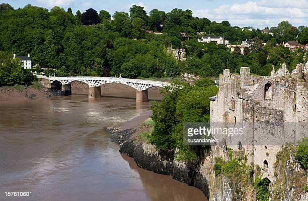 castle, bridge and river wye