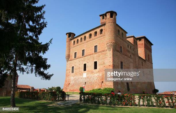 Castle Castello Cavour In The Town of Grinzane Cavour Barolo Area Piedmont Italy