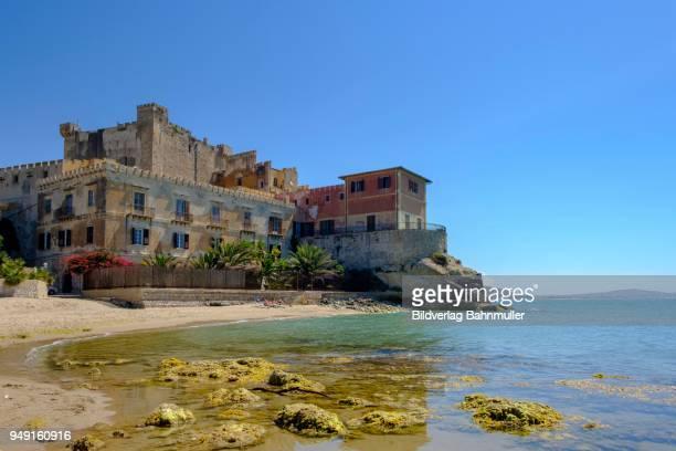 castle, castello di falconara, butera, province of caltanissetta, south coast, sicily, italy - province of caltanissetta stock photos and pictures