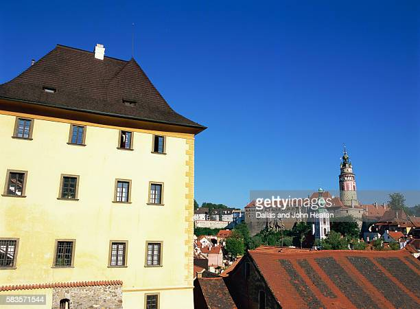 castle, cesky krumlov, czech republic - cesky krumlov castle stock photos and pictures
