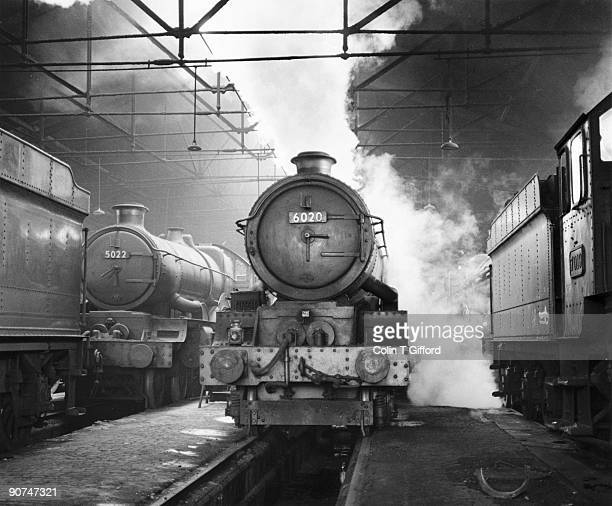 Castle class 4-6- 0 Number 5022 'Wigmore Castle', King class 4-6-0 No 6020 'King Henry VI' and Castle class 4-6-0 No 7019 'Fowey Castle'. Photograph...