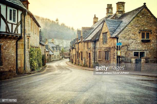 castle combe village, castle combe, wiltshire, england, uk - village stock pictures, royalty-free photos & images
