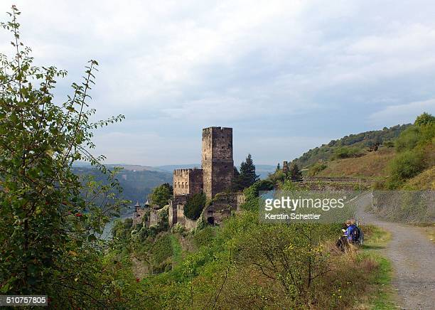 Castle constructed in the 13th Century situaded high above the Rhine river Near the town of Kaub RhinelandPalatinate